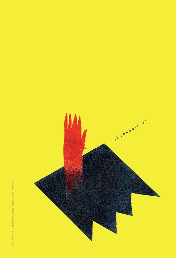 SZEKSPIR ∞ / SHAKESPEARE ∞ 16. edycja konkursu Galerii Plakatu AMS, temat: uniwersalność twórczości Szekspira 400 lat po jego śmierci (2015) / 16th edition of the AMS Poster Gallery competition, theme: the universalism of Shakespeare's works 400 years after his death (2015) / SEBASTIAN KUBICA - WYRÓŻNIENIE