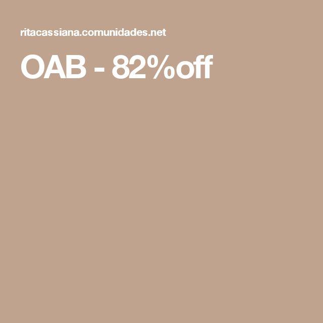 OAB - 82%off