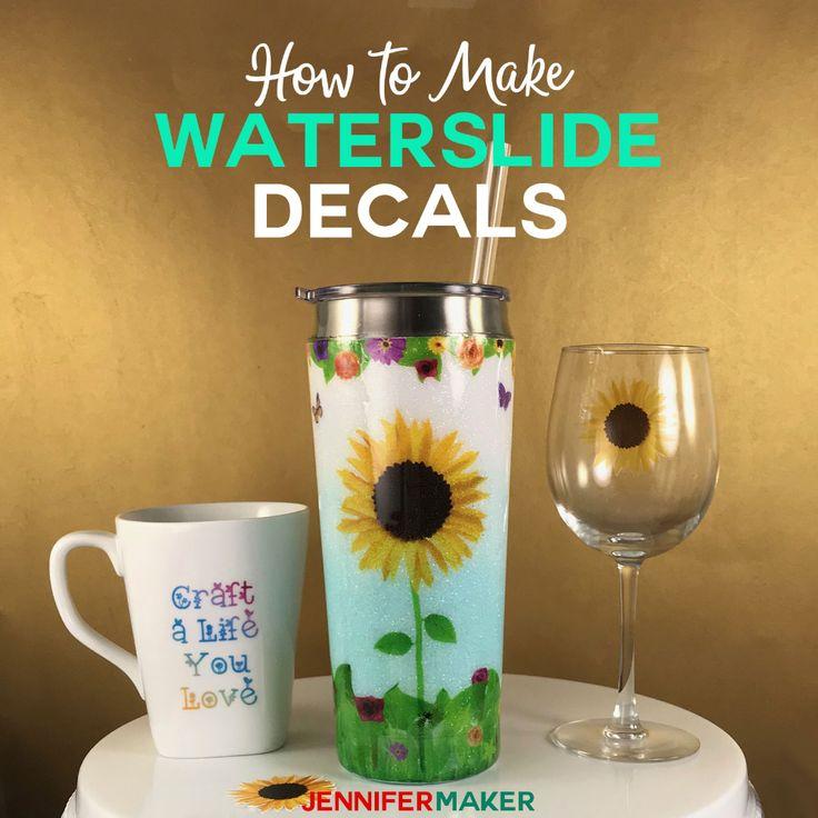 Waterslide Decal Tutorial: Tumblers, Mugs, and Glasses ...
