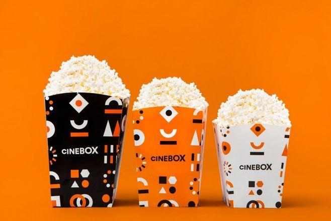 Cinebox色泽鲜明的电影院品牌形象设...