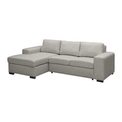 IKEA - SVINDALEN, Sofa rozkładana z pojemnikiem, lewa, W schowku pod sekcją narożną możesz przechowywać np. pościel.Sofa, leżanka i dwuosobowe łóżko w jednymCzęść rozkładana została pokryta tą samą tkaniną co reszta sofy, aby po rozłożeniu otrzymać leżankę.