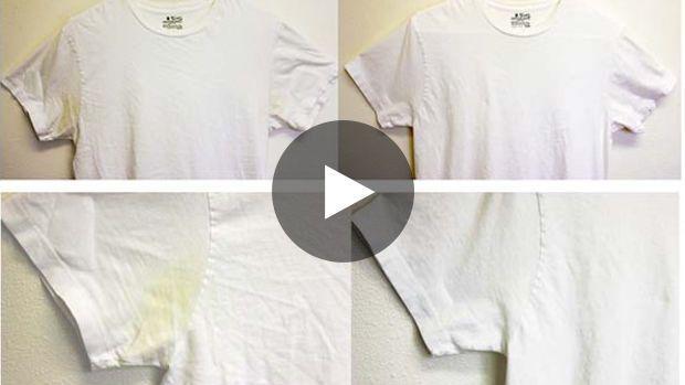 Vous avez des taches de transpiration jaunes sur vos vêtements ? Pas de panique, cette méthode permet de les retirer...