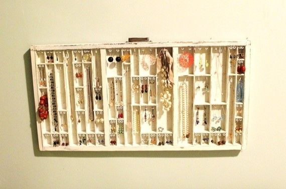 Gonna be buying one of these soon. Such a cool way to display all of your jewelry. Love the shabby chic feel to it.