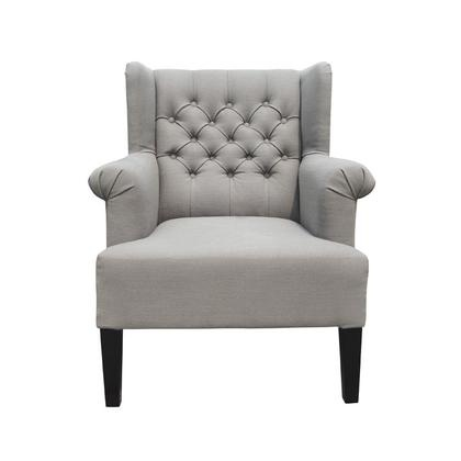 VERA CLUB CHAIR GREY LINEN MIX