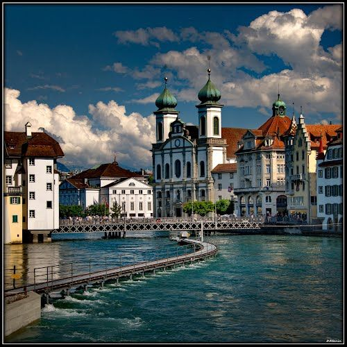 Luzern. Switzerland.  Been here but would go back its a super beautiful and serene place to be!  Super relaxing!