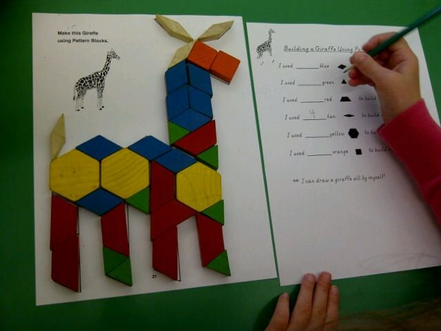 First Grade Zoo Animal Theme | Zoo animal tangrams and pattern blocks!