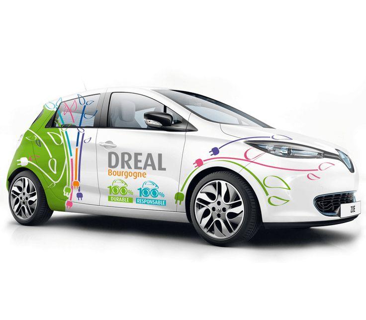 DREAL, habillage des véhicules électriques Zoé