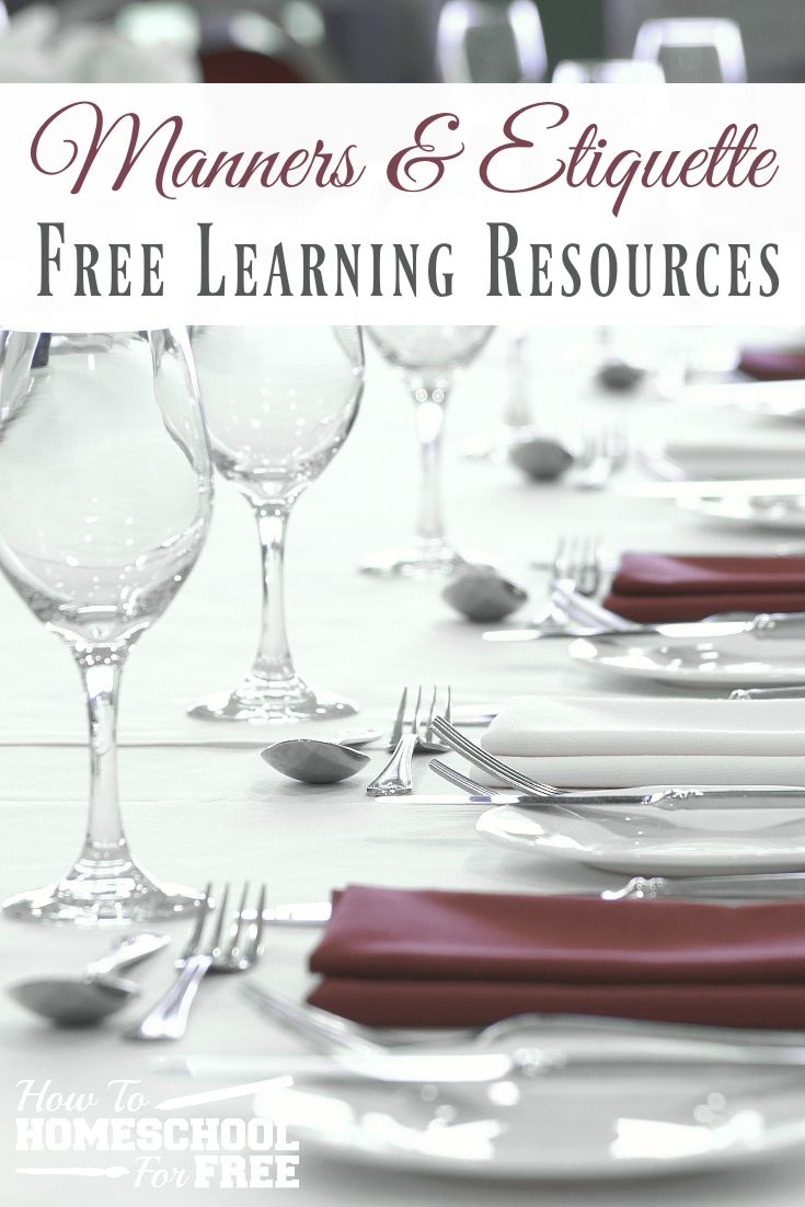 Want to teach your kids manners but not sure where to start? Check out these wonderful FREE resources to teach your kids proper manners and etiquette!