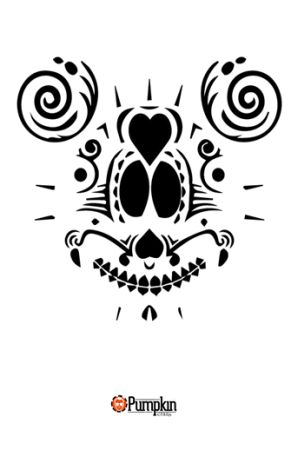 mickey mouse sugar skull pumpkin pattern free pumpkin patterns pinterest shops mice and. Black Bedroom Furniture Sets. Home Design Ideas