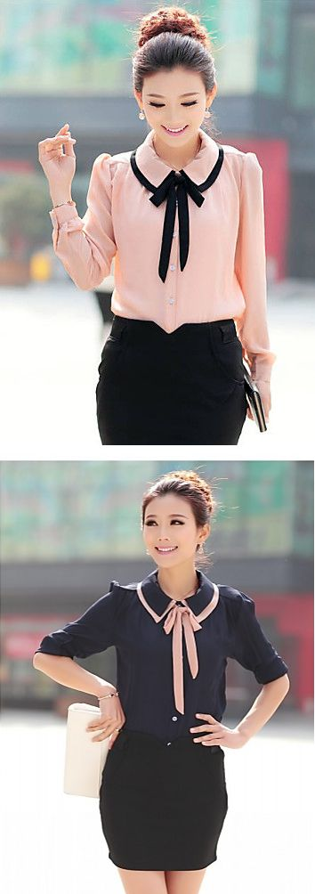 Are you looking for something cute and elegant to look charming at work>? Check out this mesmerizing chiffon blouse - comes in light pink and black colors at  $8.54.  Only TODAY - 11.11 sale - up to 85% OFF on all categories.