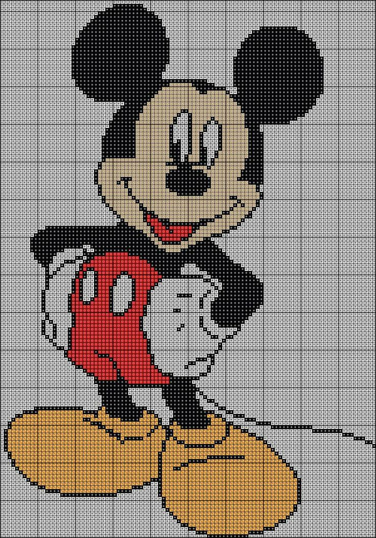 Mickey Mouse patern by auraya89.deviantart.com on @deviantART