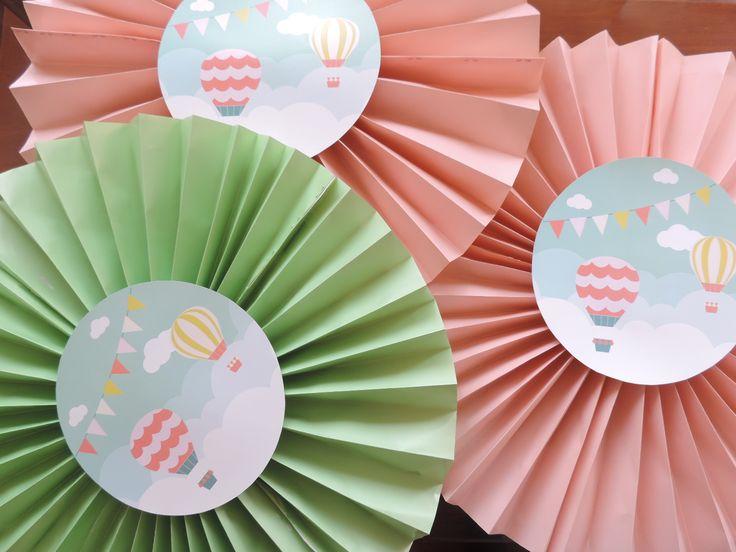 Abanicos para Pared ideales para decorar tus Bautizos de Globos