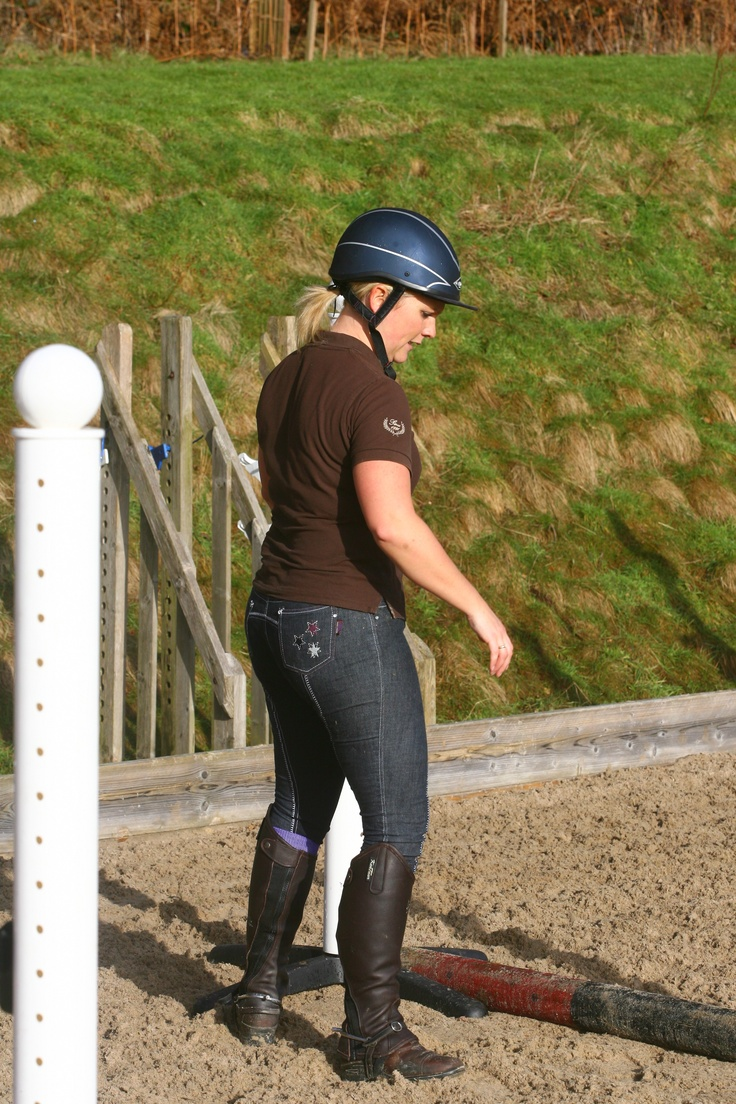 we 'heart'  top international eventer Gemma Tattersall's breeches with the cute star detail on the bum! This shot was taken by top equestrian photographer David Miller for a recent shoot for Gemma's sponsors Childéric Saddles UK.