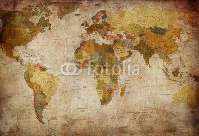 mata magnetyczna Mapa świata