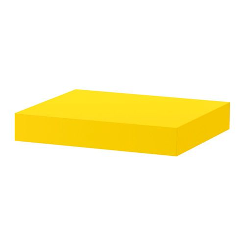IKEA - LACK, Wall shelf, yellow, , The shelf becomes one with the wall thanks to the concealed mounting hardware.