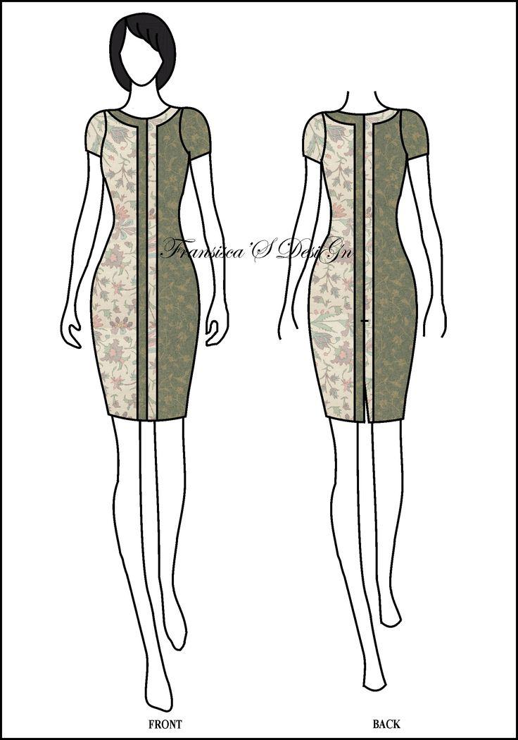 Dress span kombinasi garis.  #FashionDesigner #Butik #OnlineShop #DesainBajuBusanaWanita #Sketsa #Sketch #Modern #Casual #Trend #Blouse #Dress #Skirt #Hem #Batik #SoloBaru #Sukoharjo #Surakarta #JawaTengah #HP:085226138628 #PinBB:5176EF34