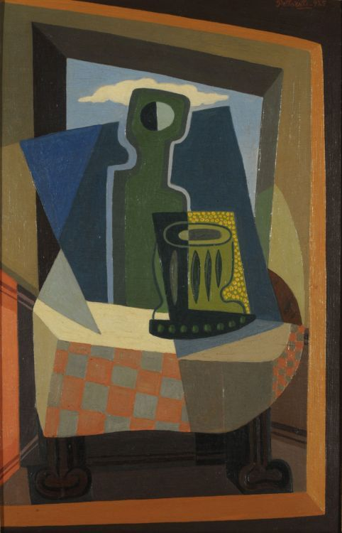 Sombra en la ventana (1925) Oleo sobre tabla - Emilio Pettoruti (Argentino 1892-1971) Museo Nacional de Bellas Artes de Buenos Aires