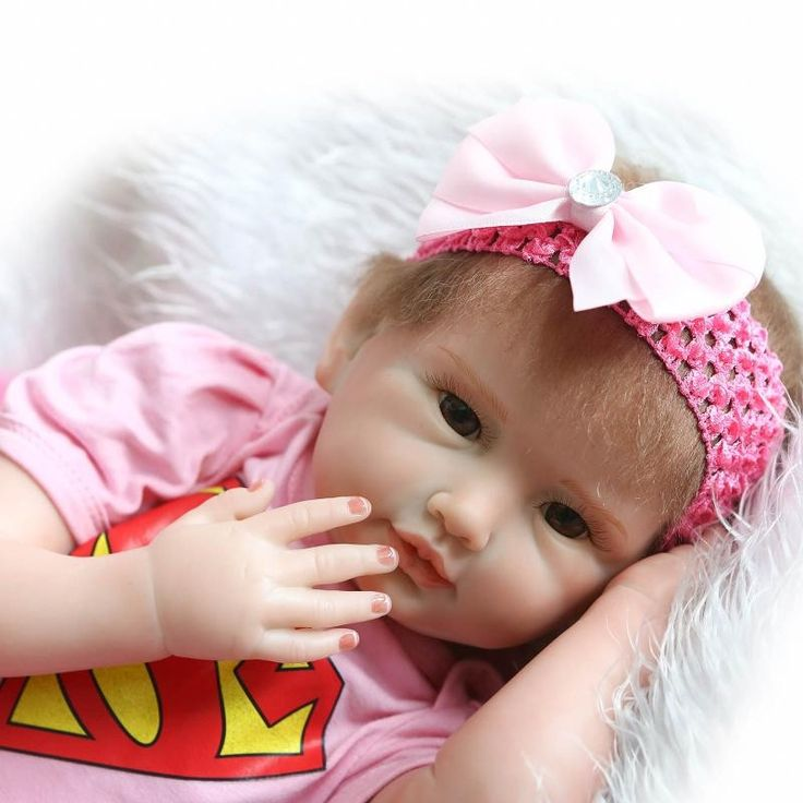 81.84$  Watch here - http://alib1x.worldwells.pw/go.php?t=32699399807 - Wholesale Hot Style NPK 55cm 22'' Baby Born Doll Toy With Butterfly Hair Band Hot Sell Silicone Baby Doll Brinquedos Para Bebe