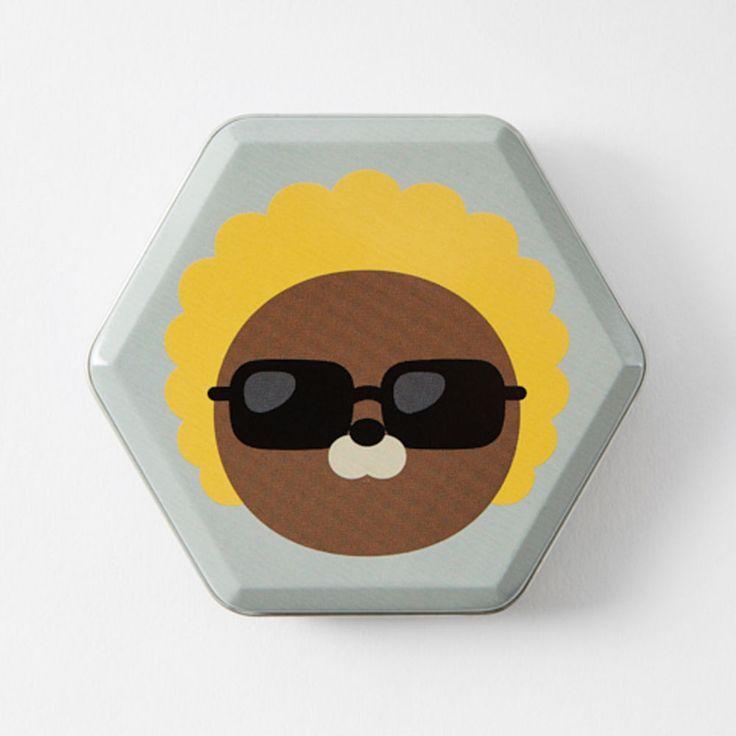 New Korea Kakao Talk Friends Cute Character Hexagon 10cm 4in Tincase Jay-G #KakaoFriends