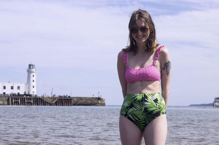 DIY (upcycled) High-Waisted Bikini Bottoms #diy #diyblogger #diyfashion #sewing #craft #doityourself #highwaistbikini #seaside #beach #beachbody #beachbum #bikini #summer #fashion