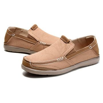 Mens Leisure Sneakers Slip On Flat Loafers Soft Sole Breathable Shoes - US$29.08