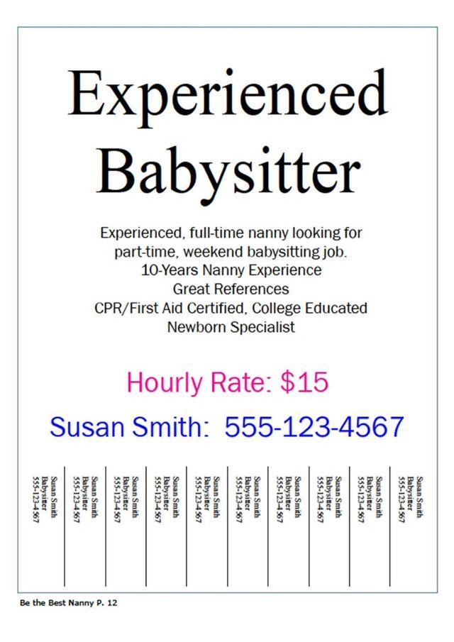23 best Babysitter images on Pinterest Autism, Gifts and Home binder - resume for babysitter