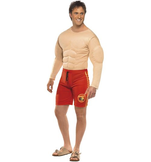 Mens Baywatch Lifeguard Fancy Dress Costume Bring Baywatch back in style with this awesome official lifeguard suit. No need to hit the gym either, this clever fancy dress costume comes with a fully muscled up body suit which looks pretty impres http://www.MightGet.com/february-2017-3/mens-baywatch-lifeguard-fancy-dress-costume.asp