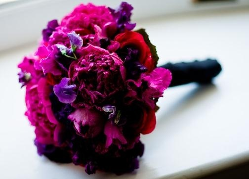 purple and hot pink reception wedding flowers,  wedding decor, wedding flower centerpiece, wedding flower arrangement, add pic source on comment and we will update it. www.myfloweraffair.com can create this beautiful wedding flower look.