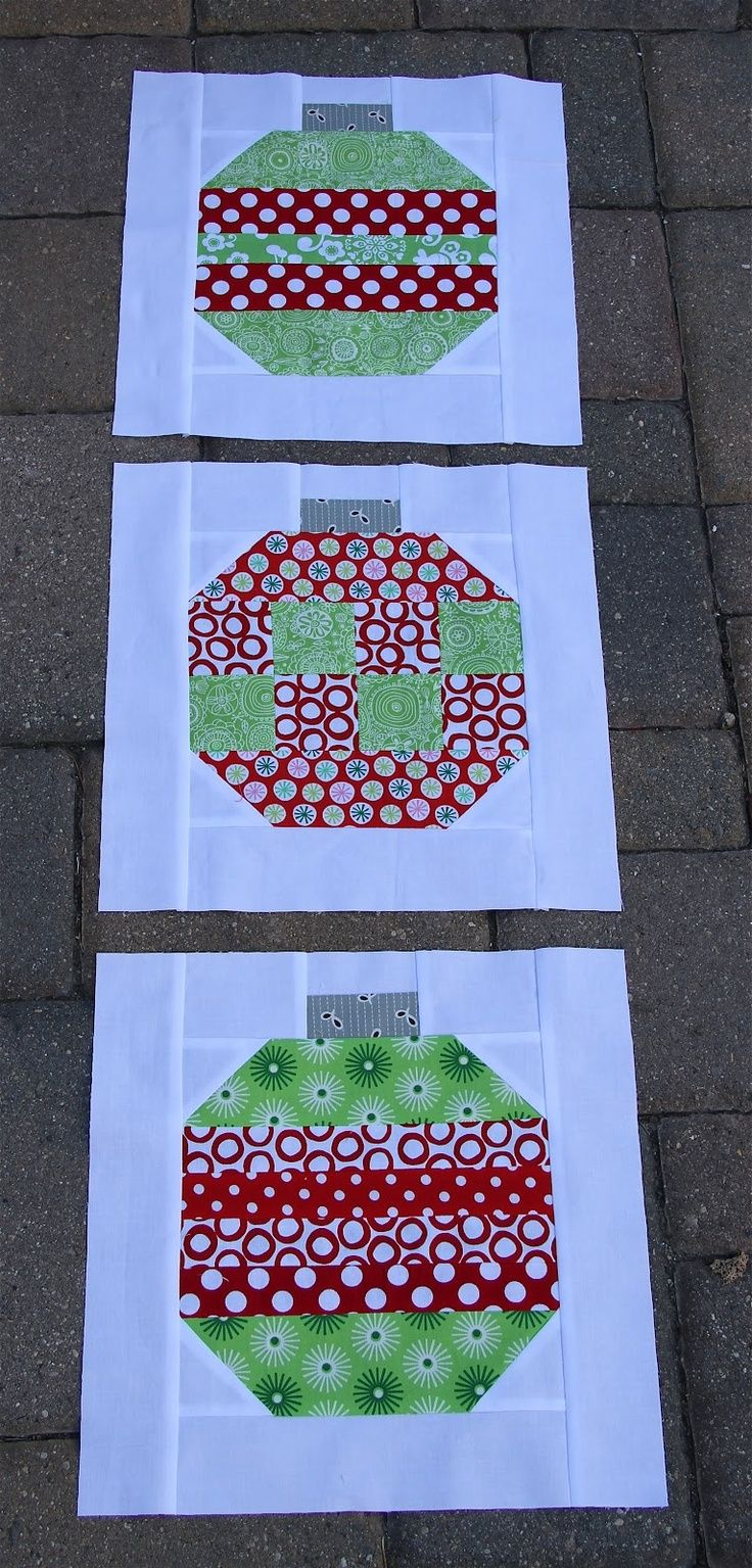 Link to a nice blog - Need to search for the Christmas quilt blocks | christmas ornament quilt blocks | Christmas Crafts though