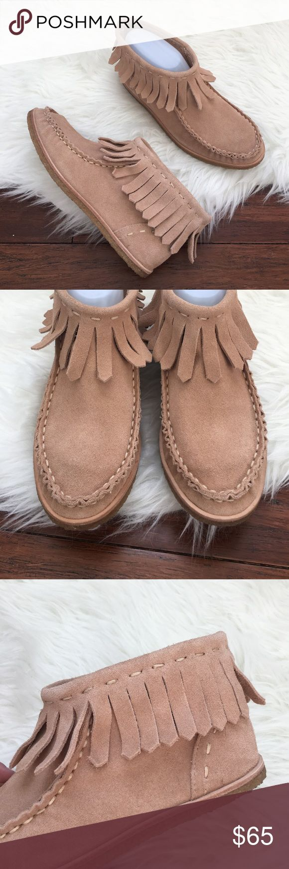 Splendid Suede Fringe Moccasin Ankle Booties Brand new in the box. Never been worn. Made of fine leather. Extremely comfortable and adorable of course! Perfectly on trend! Splendid Shoes Ankle Boots & Booties
