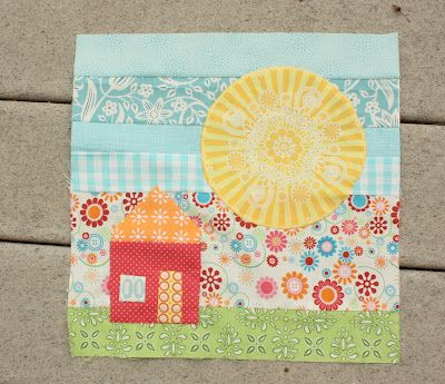 I LOVE this bee block by