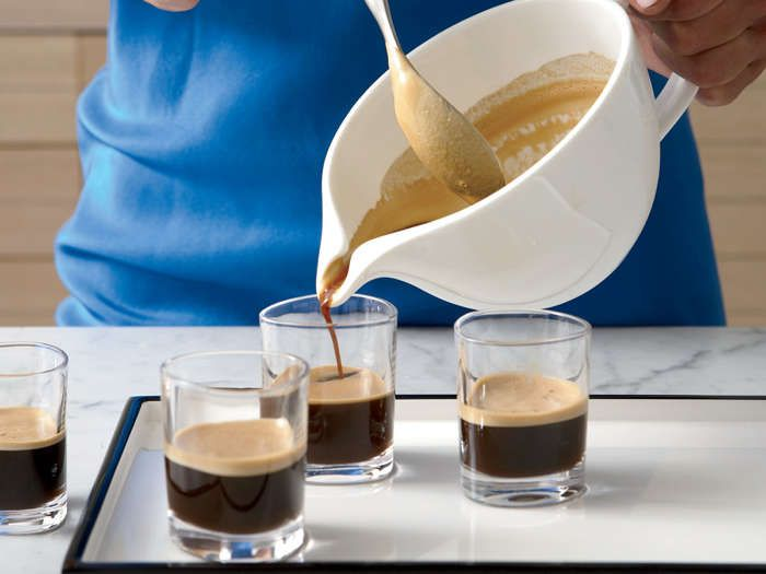 No Cuban meal is complete without a café cubano (Cuban coffee). A well-made café cubano has a thick layer of sweet crema (cream) floating over strong espresso.