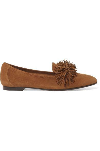 Aquazzura - Wild Fringed Suede Loafers - Tan - IT