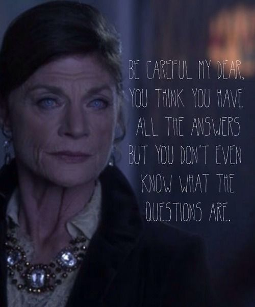 Carla Grunwald, Ravenswood. Favorite show, favorite episode, favorite quote