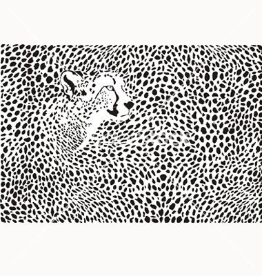 Pattern cheetahs background vector