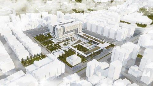1.Ödül - Bornova Belediye Binası ve Çevresi Mimari Proje Yarışması - kolokyum.com