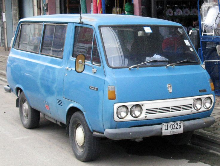 The History Of Toyota Hiace The First Generation