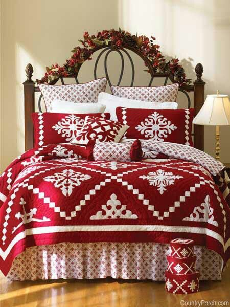Love this... Maybe through the years I will collect Christmas bedding. Christmas red
