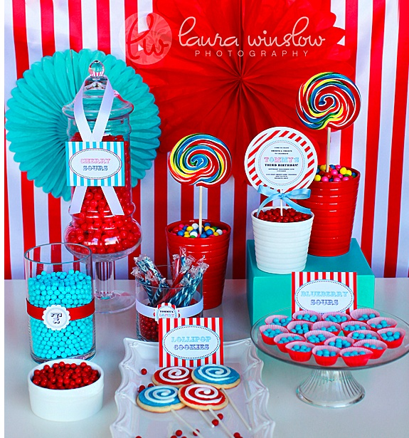super fun carnival theme buffet