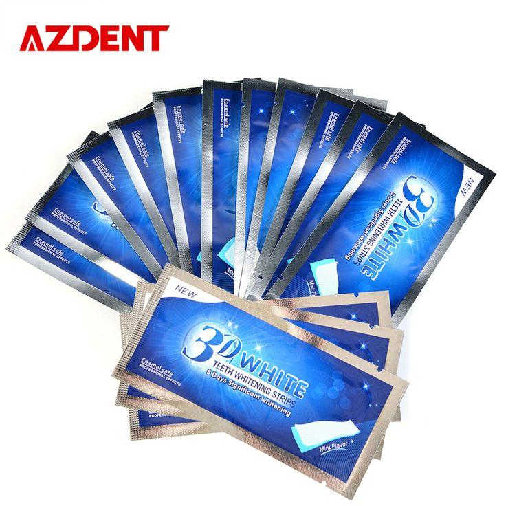 AZDENT 14 Bolsas/28 Teeth Whitening Strips Tiras 3D Whitestrips Profesión Blanqueador de Dientes Para Blanquear los dientes blanqueamiento Tiras de Avanzada