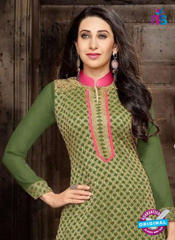 Elezita 58014 Green and Pink Georgette Straight Suit