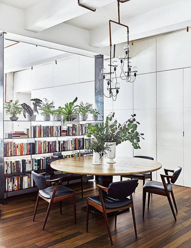 modern dining room setup.