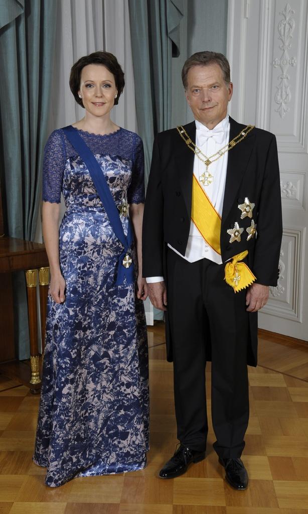 Tasavallan presidentti Sauli Niinistö ja rouva Jenni Haukio. the President of Finland Mr Sauli Niinistö and Mrs Jenni Haukio. Copyright: MTV Oy