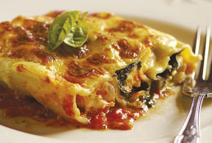 Spinach, Butternut And Feta Cannelloni
