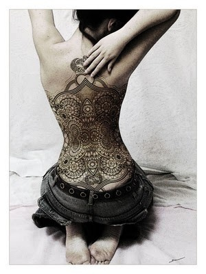 Lace tattoo...beautiful.