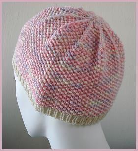 Seed Stitch Chemo Hat in Merino 5 superwash - free hat knitting pattern - Crystal Palace Yarns
