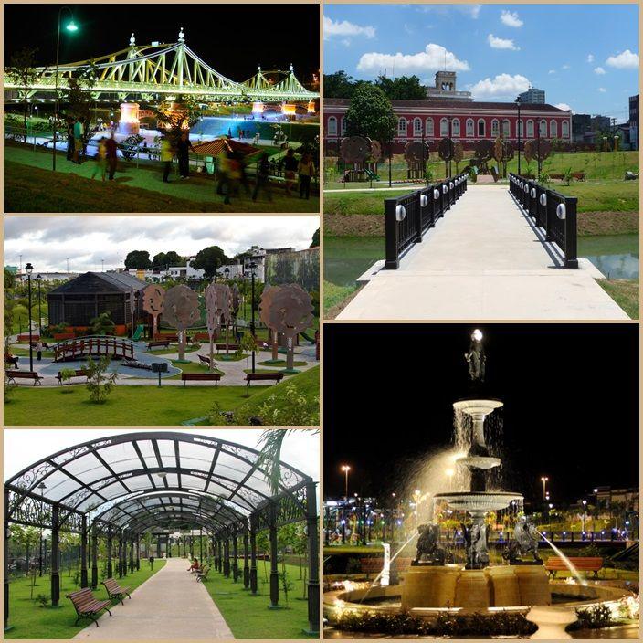 Parque Jéfferson Péres. Batizado com o nome de um dos maiores políticos que o Amazonas já teve, o Parque ocupa uma extensa área do centro de Manaus, concebido para ser uma homenagem à Belle Epóque de Manaus, o Parque apresenta diversos detalhes que remetem a essa época.