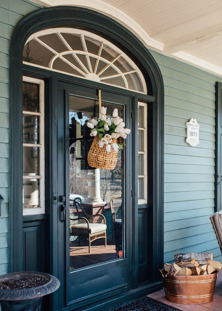 Breath Of Fresh Air Spring Home Tour Exterior Paint Colors For House Paint Colors For Home Green Front Doors