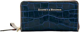 Dooney & Bourke Savanah Large Zip Around Wristlet Wallet