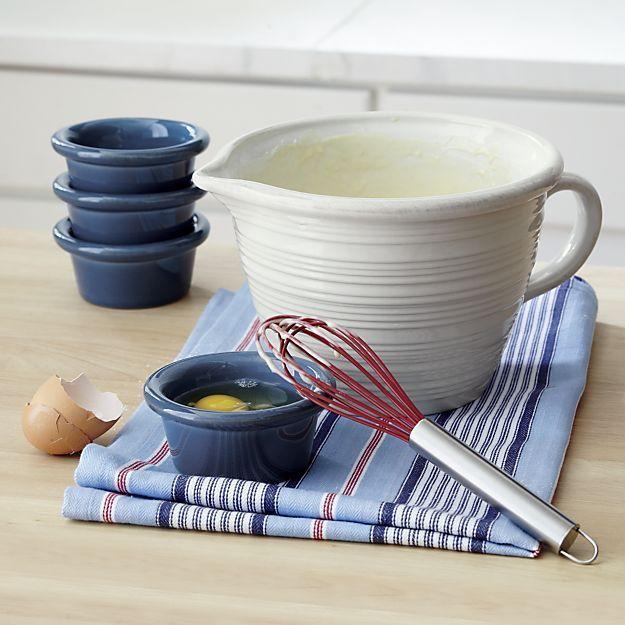 white farmhouse bowls   17 Best images about Wish List on Pinterest   Navy blue ...